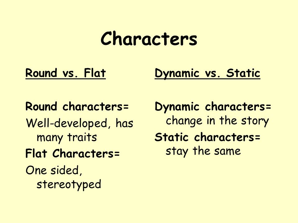 flat and static character