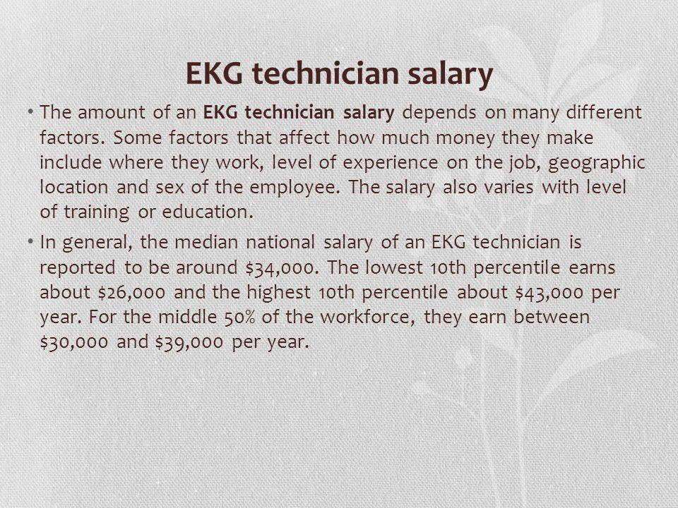 40 EKG Technician Salary