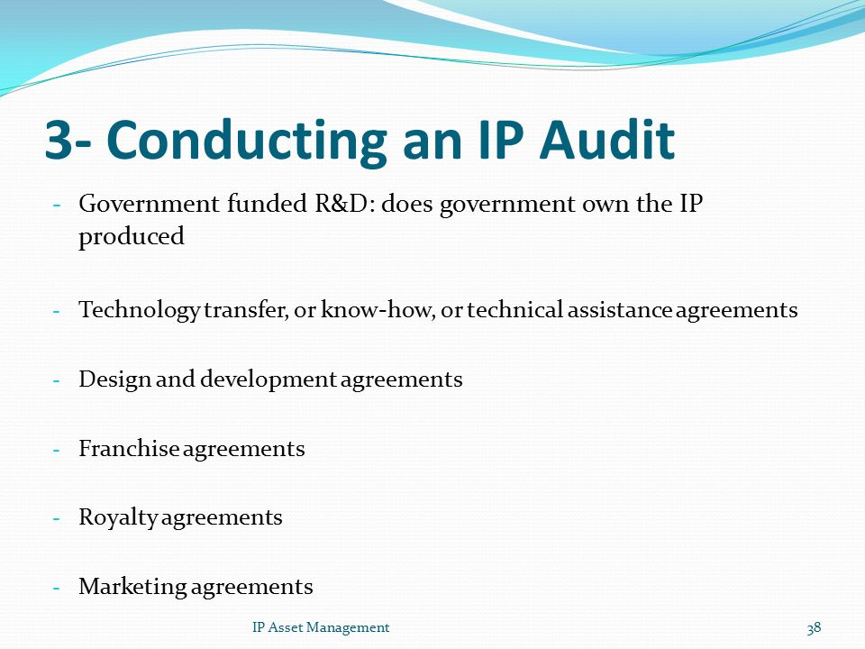 Conducting An Ip Audit And Managing Ip Assets Ppt Video Online