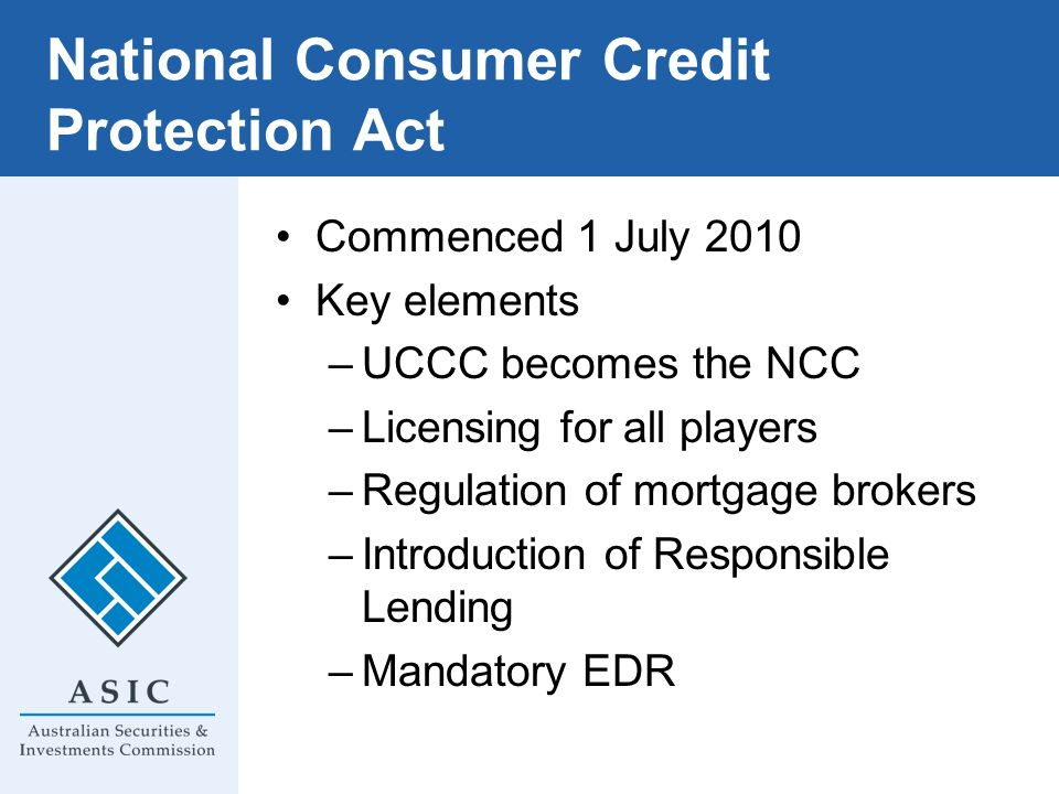 National Consumer Credit Protection Act