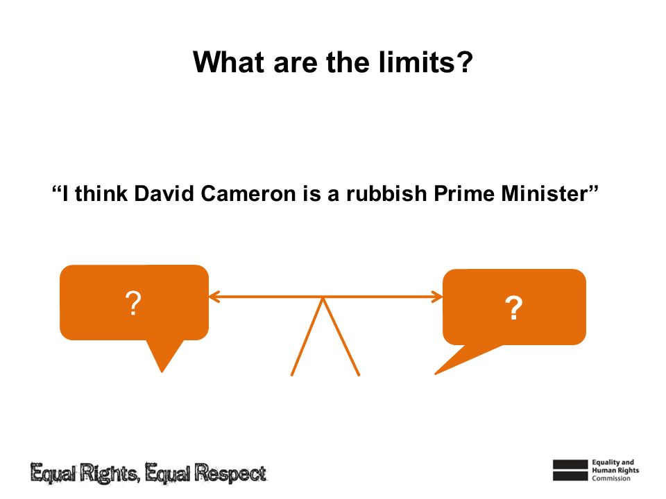 What are the limits I think David Cameron is a rubbish Prime Minister
