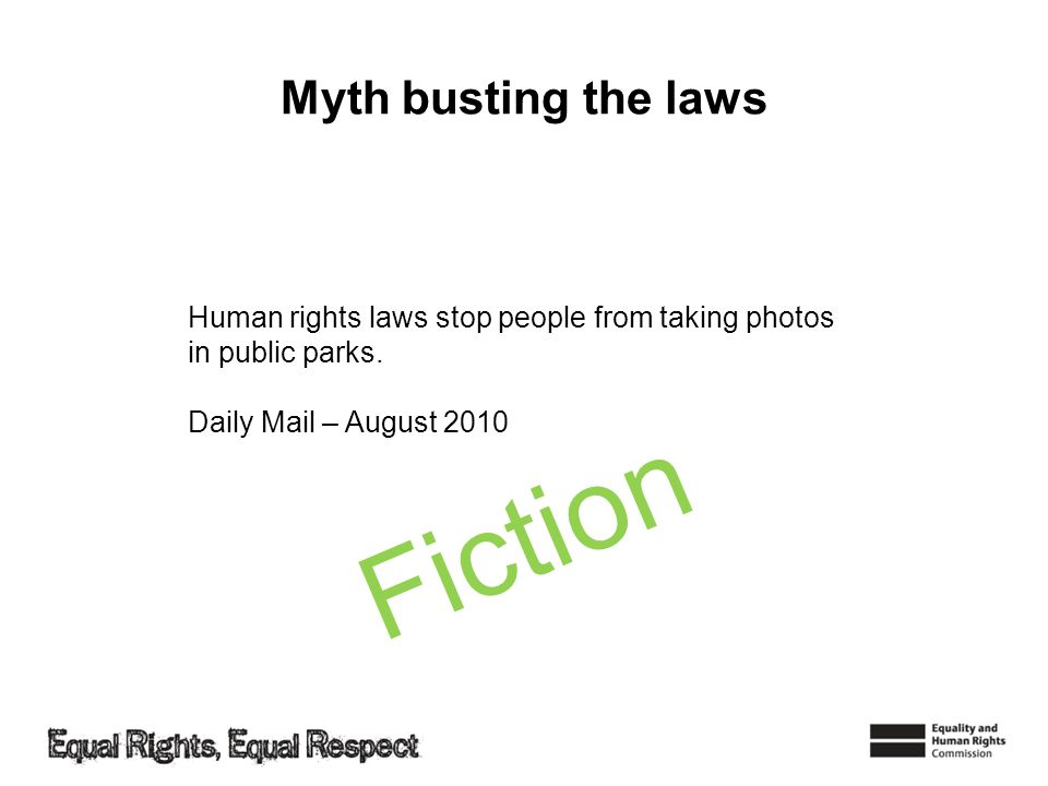 Fiction Myth busting the laws