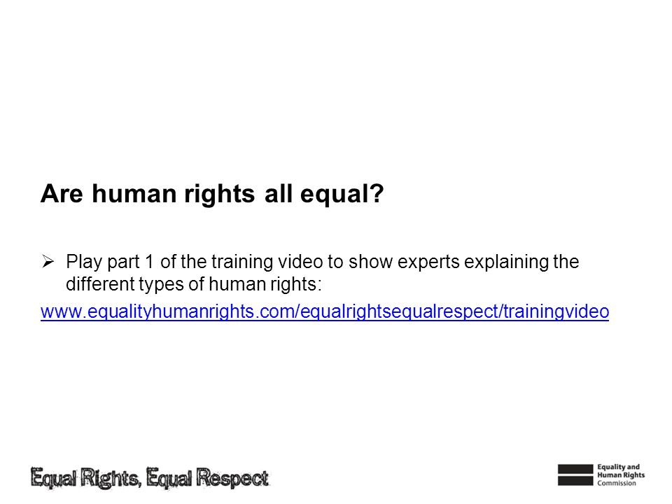 Are human rights all equal