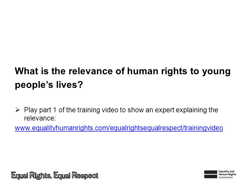 What is the relevance of human rights to young people's lives