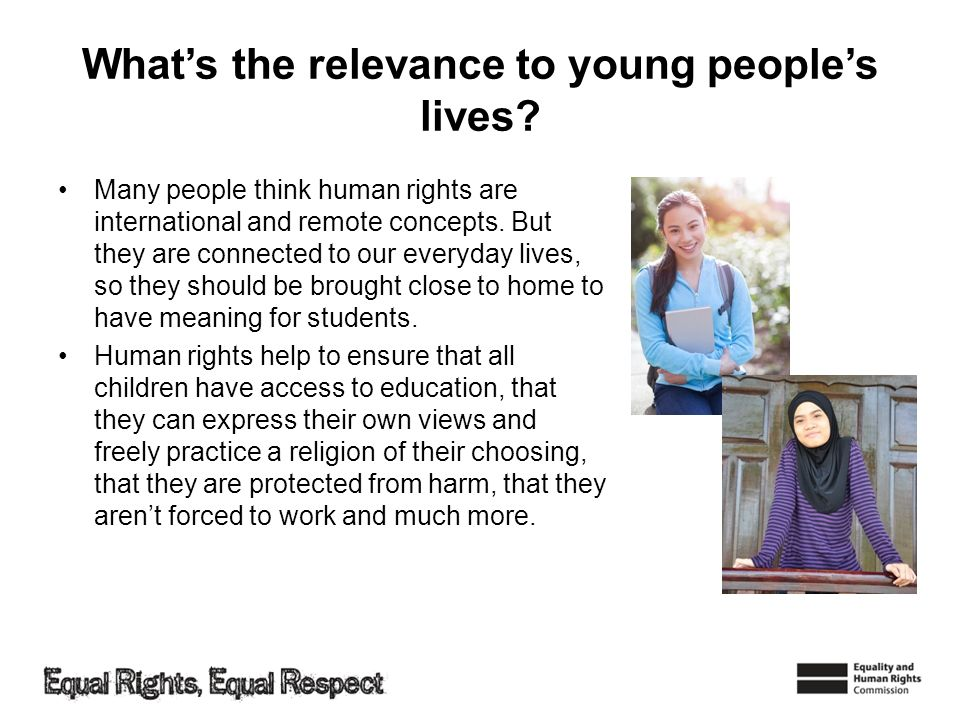 What's the relevance to young people's lives