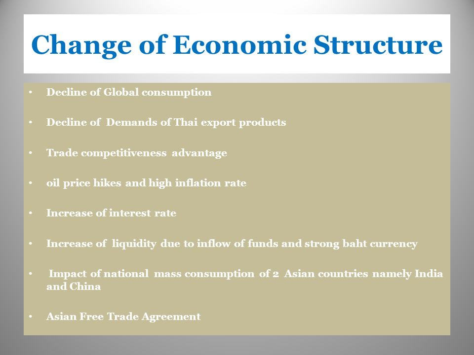 Change of Economic Structure