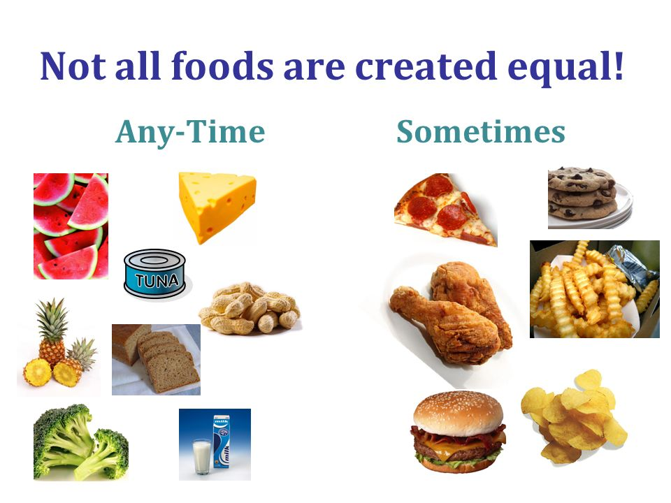 Not all foods are created equal!