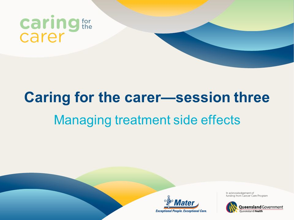 Caring for the carer—session three