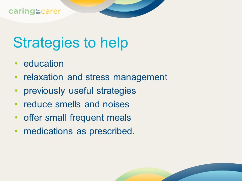 Strategies to help education relaxation and stress management