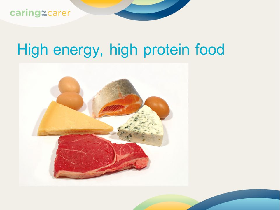 High energy, high protein food