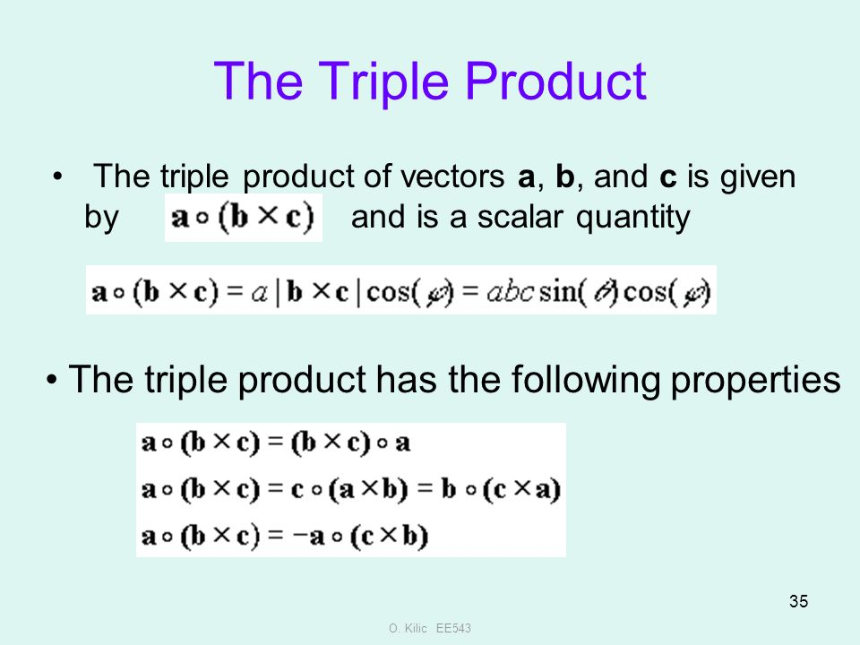 Ee 543 theory and principles of remote sensing ppt video online the triple product the triple product has the following properties ccuart Choice Image
