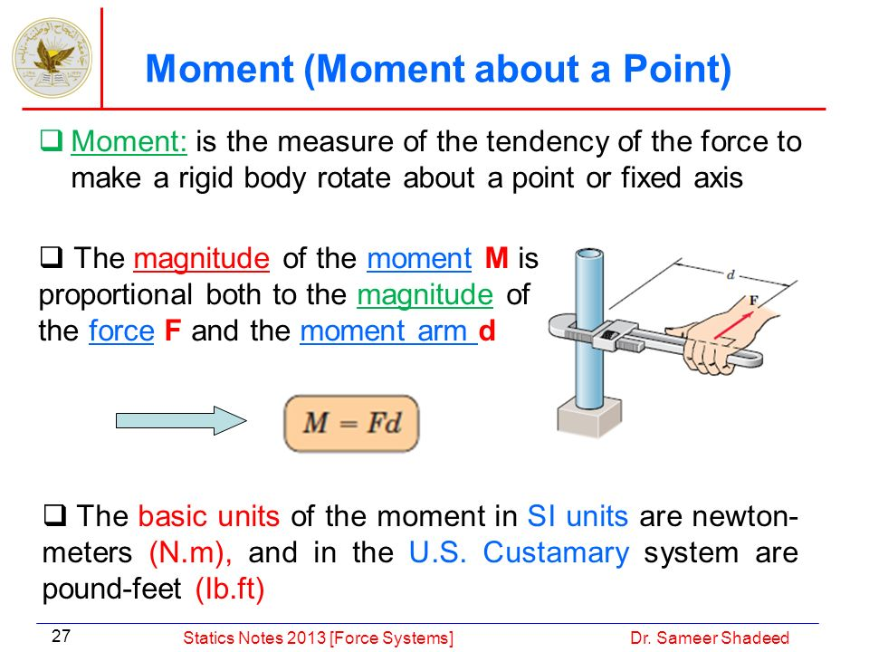 Moment (Moment about a Point)