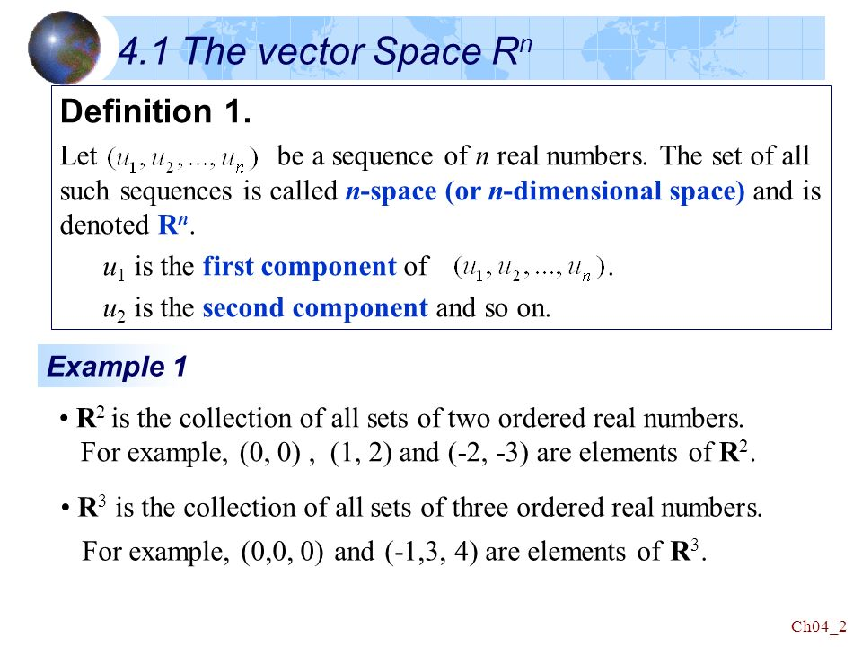 Linear Algebra Chapter 4 Vector Spaces  - ppt download