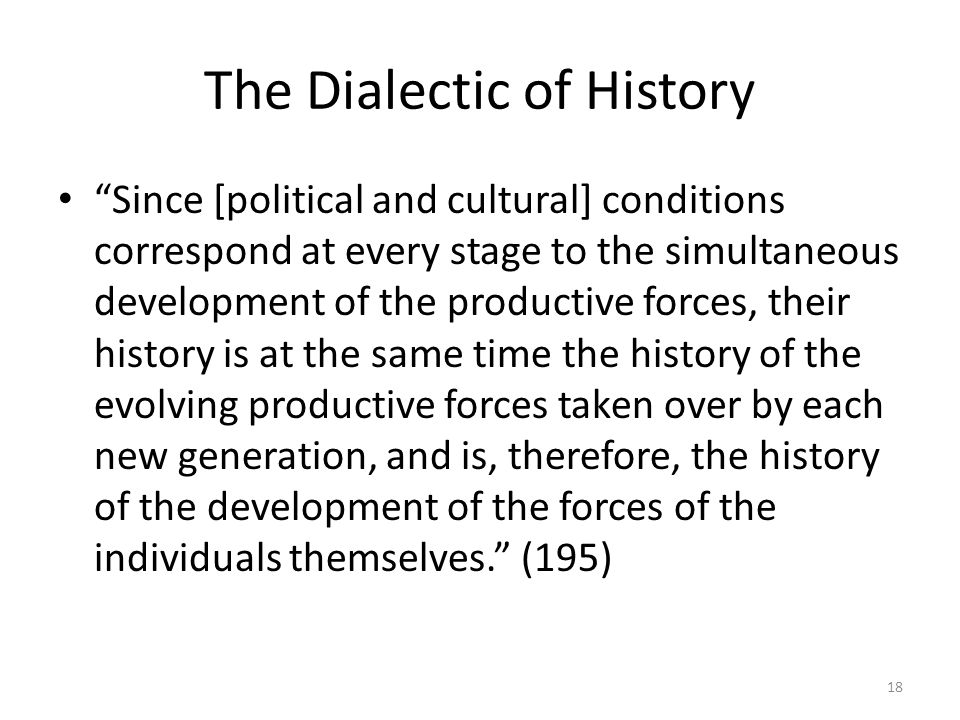 The Dialectic of History