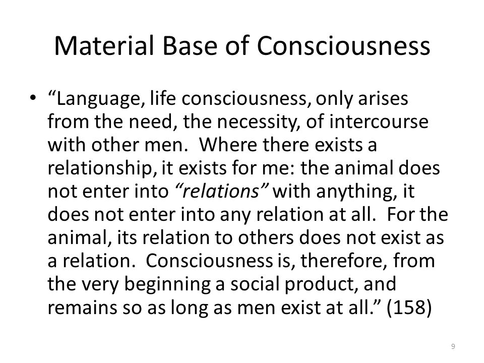 Material Base of Consciousness