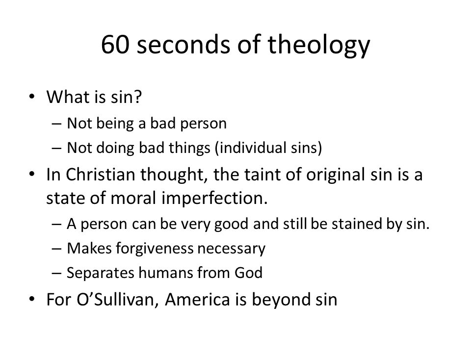 60 seconds of theology What is sin