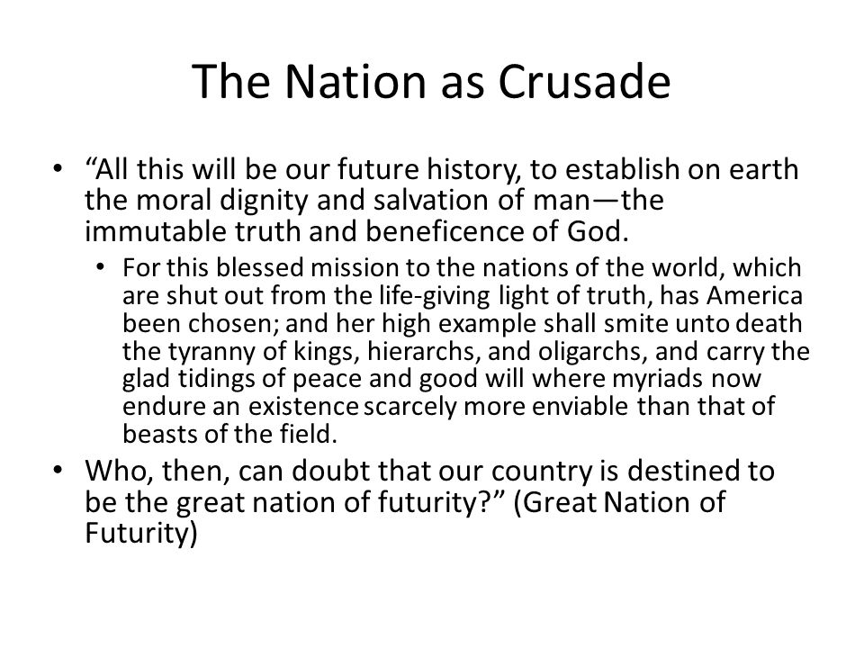 The Nation as Crusade