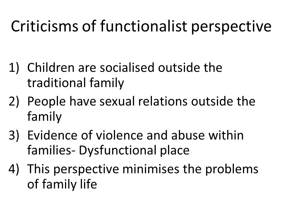 functionalism and domestic violence