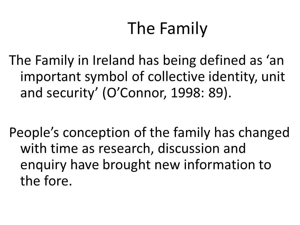 how the family has changed over time sociology