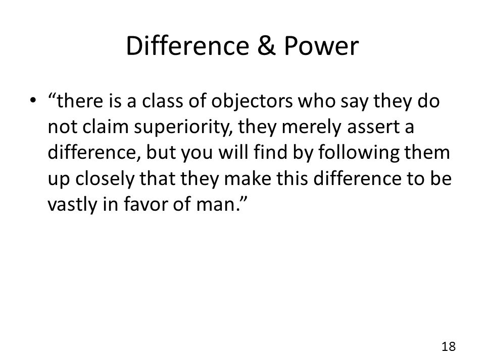Difference & Power