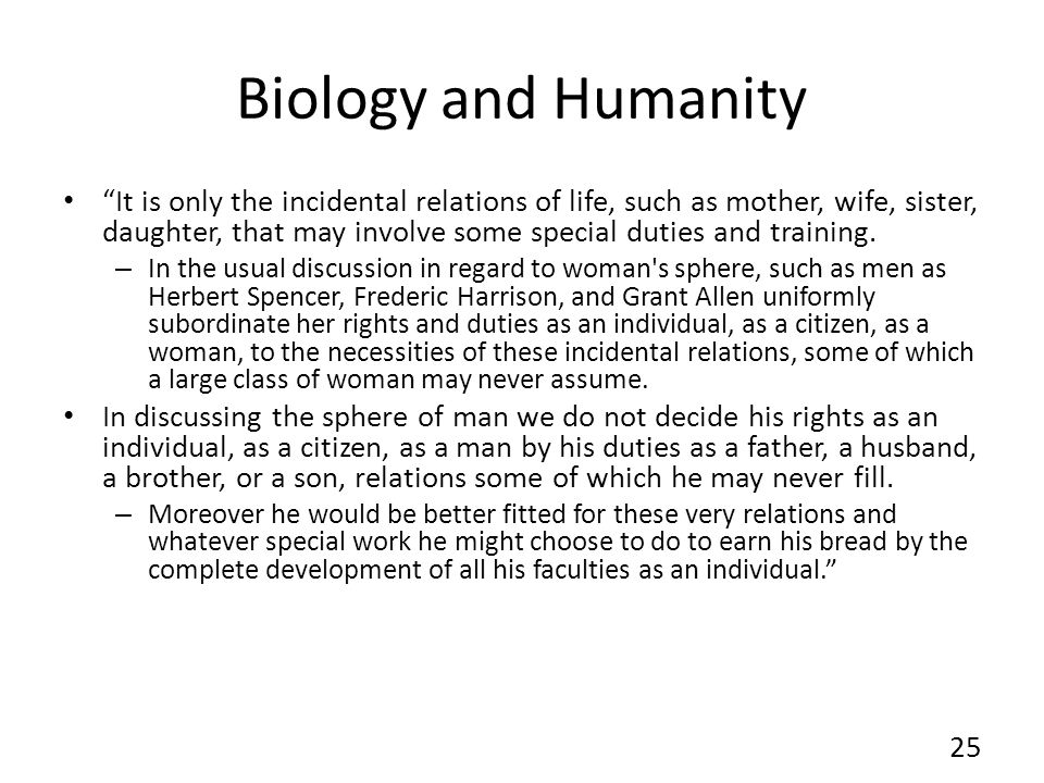 Biology and Humanity