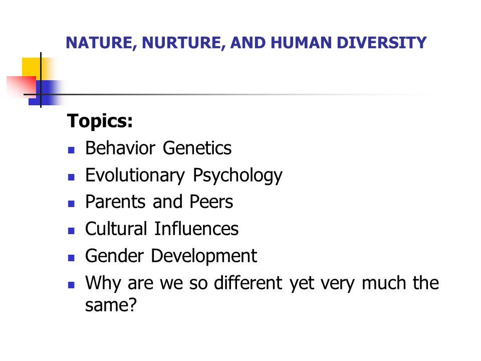 nature vs nurture effects on behavior