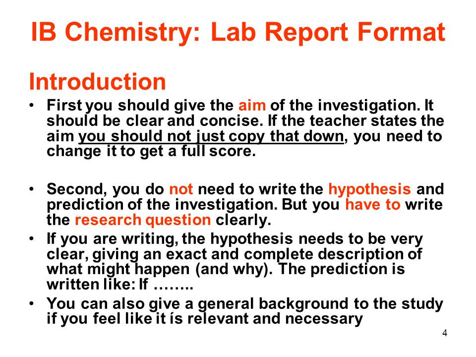 how to write a chemistry introduction