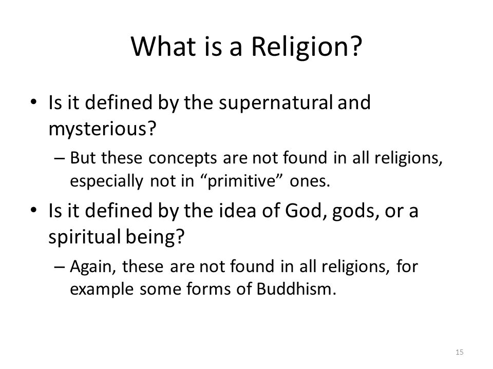 What is a Religion Is it defined by the supernatural and mysterious