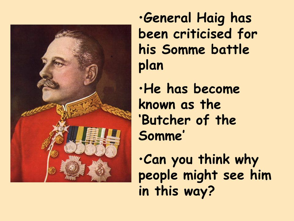 haig battle of the somme