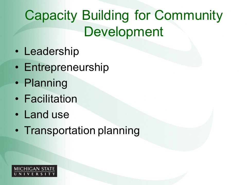 Capacity Building for Community Development