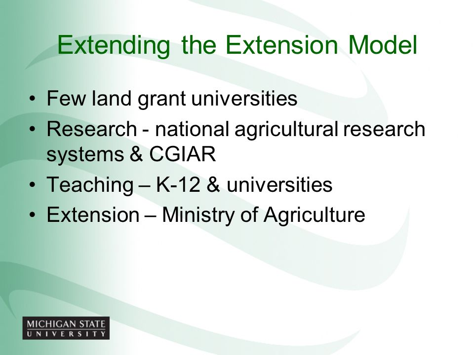 Extending the Extension Model