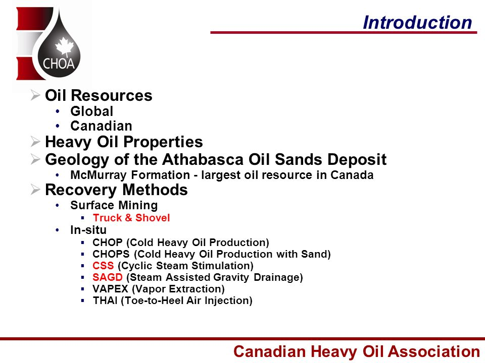 An Overview of Alberta Oil Sands and Recovery Technologies