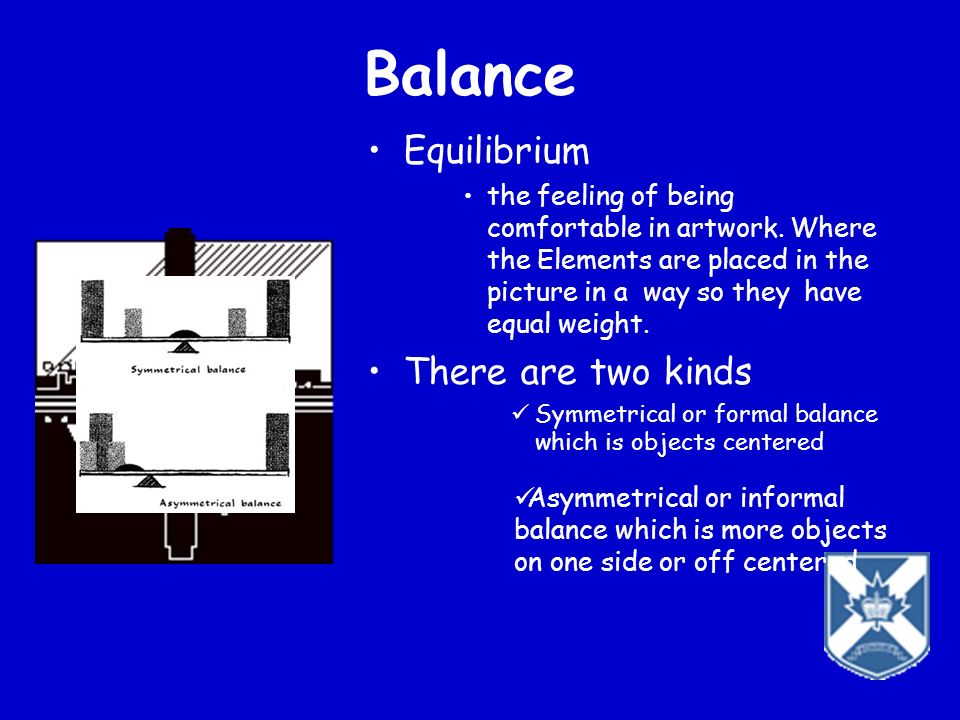 Balance Equilibrium There are two kinds