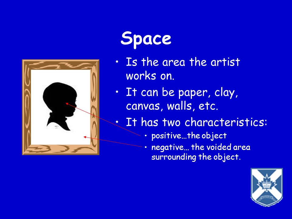 Space Is the area the artist works on.