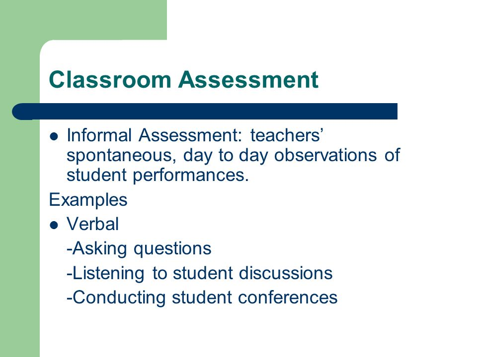 Assessment Of Student Learning Ppt Video Online Download