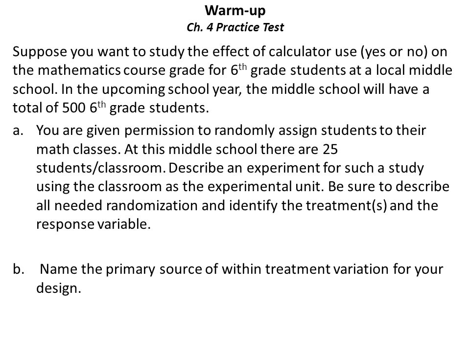 Warm-up Ch. 4 Practice Test - ppt download