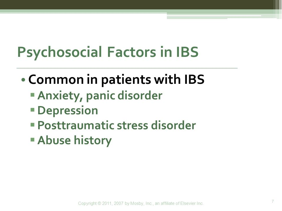 Psychosocial Factors in IBS