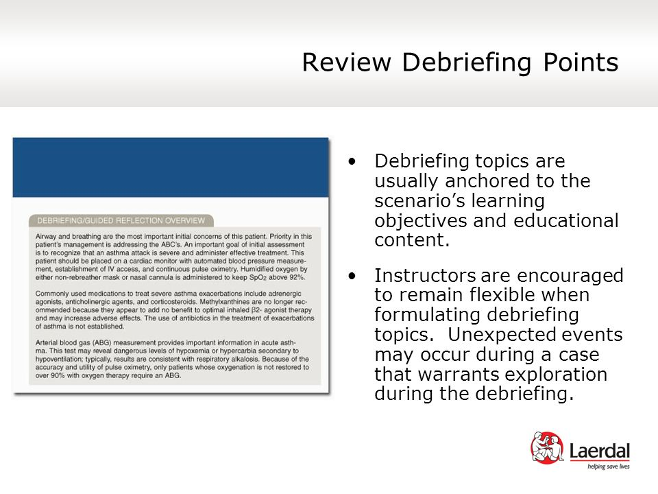 Review Debriefing Points
