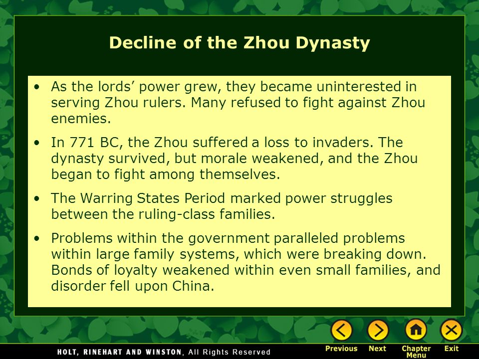 Decline of the Zhou Dynasty