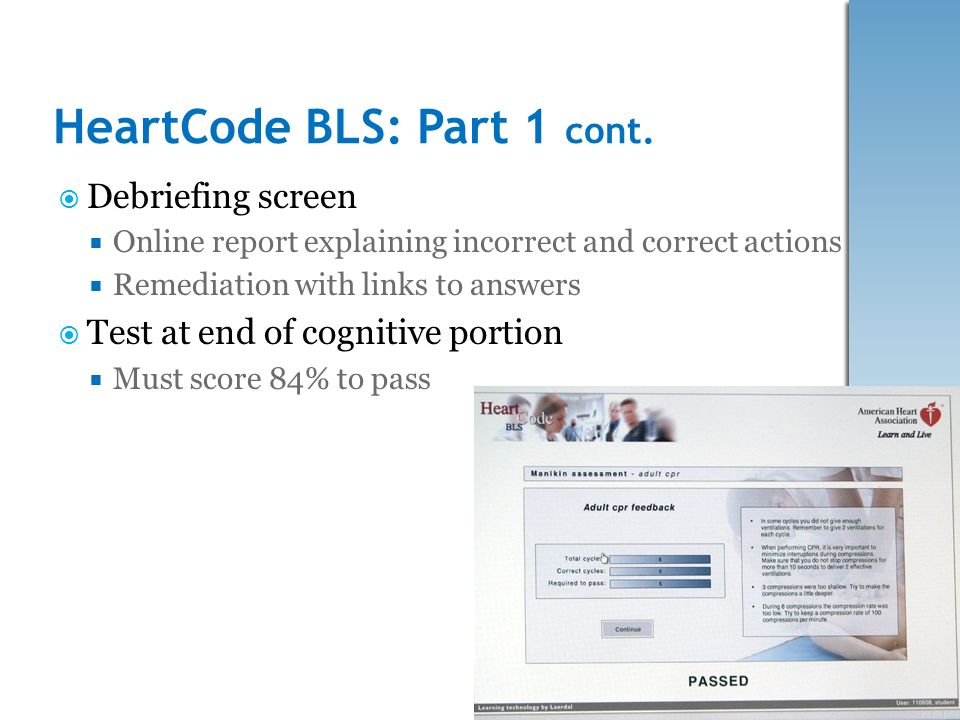 Multi Site Nursing Education Study HeartCode BLS With