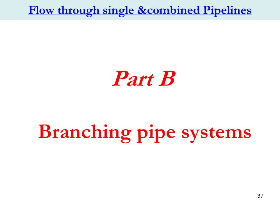 CHAPTER 2: Flow through single &combined Pipelines - ppt