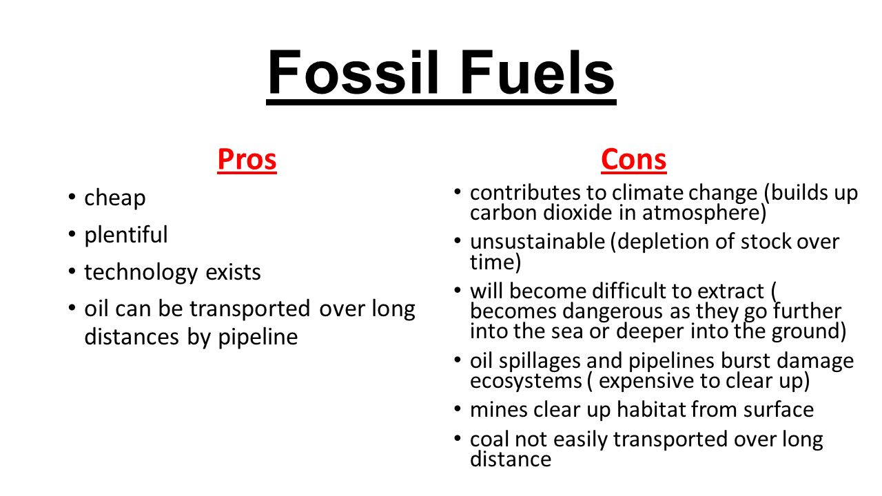 Pros And Cons Of Fossil Fuels >> Energy Resources Ppt Download