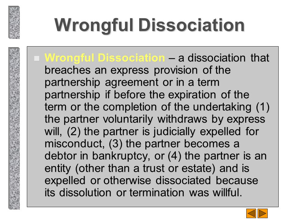Wrongful Dissociation
