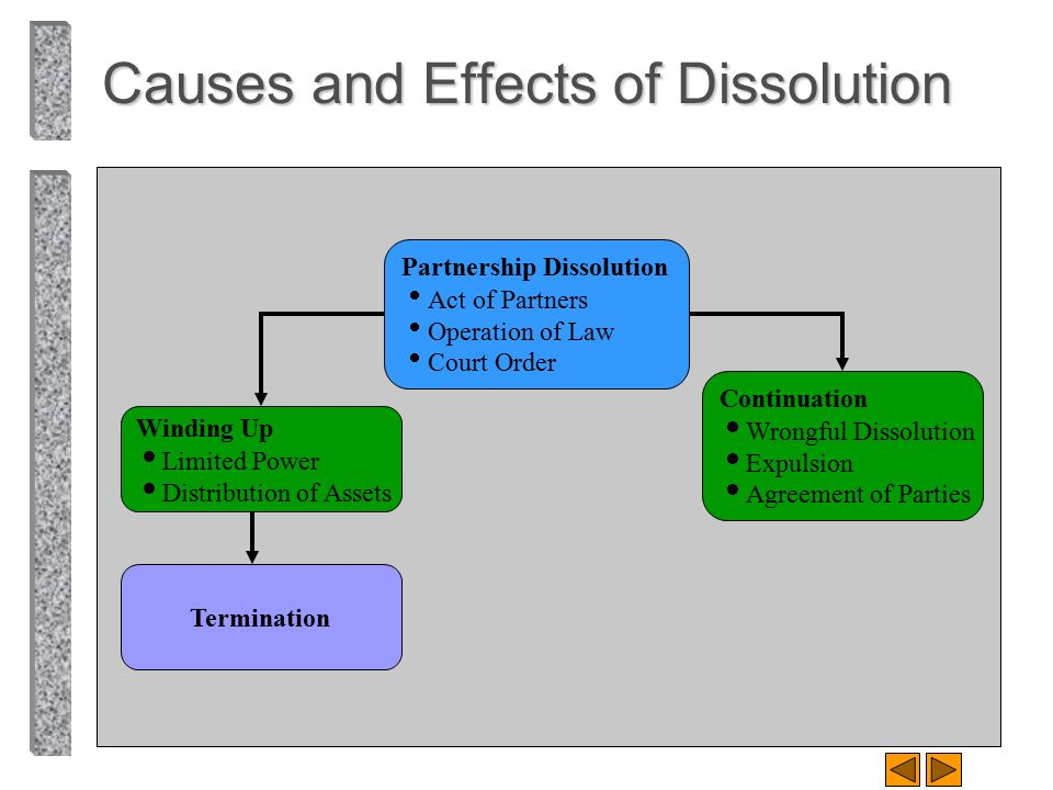 Causes and Effects of Dissolution
