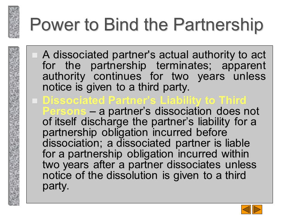 Power to Bind the Partnership