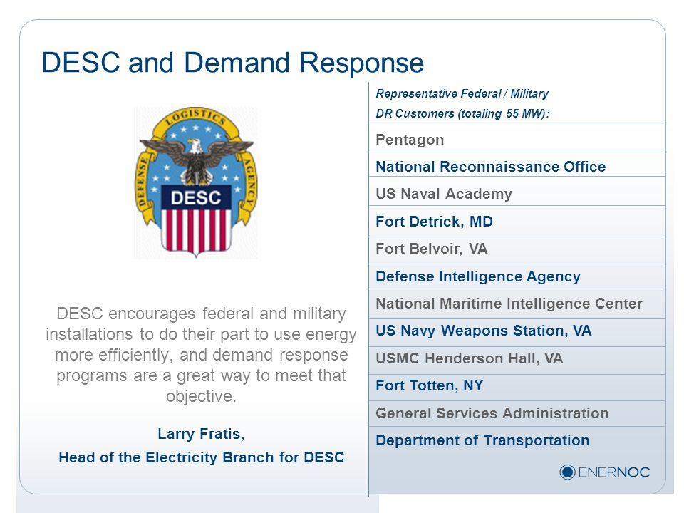 DESC and Demand Response