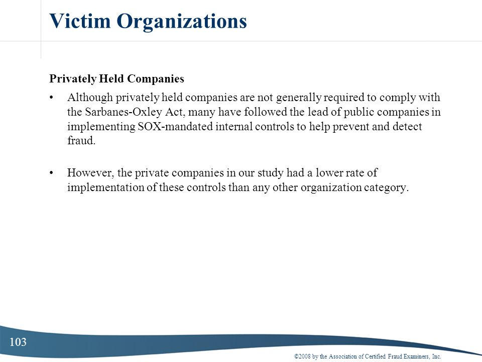Victim Organizations Privately Held Companies