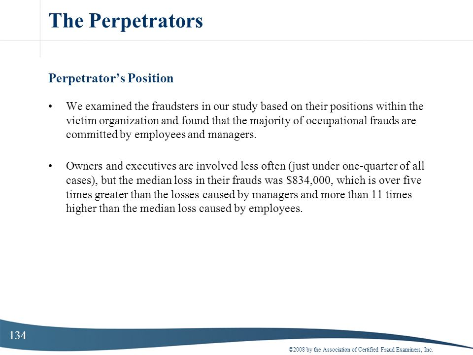 The Perpetrators Perpetrator's Position