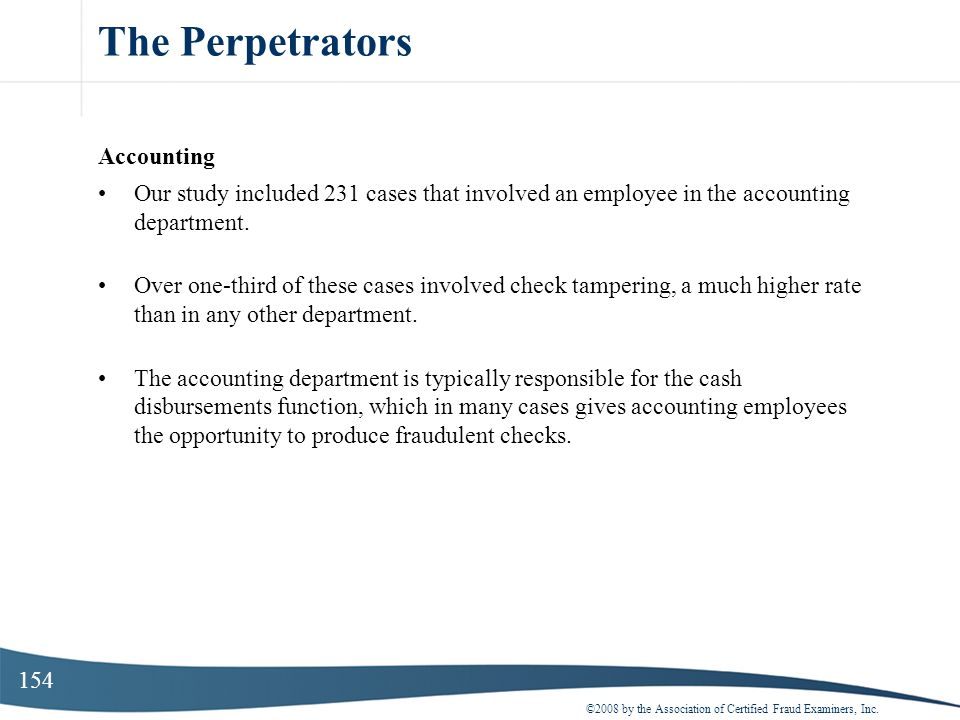 The Perpetrators Accounting