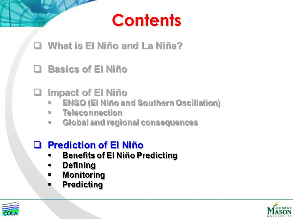 What Is The Nature Of El Nio And How Is It Predicted Ppt Download